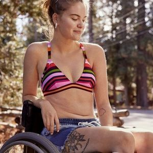 AERIE: Crossback Triangle Bikini Top